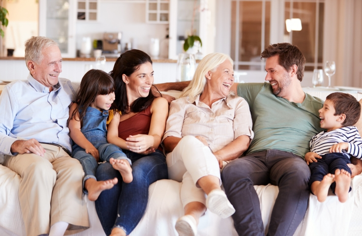 Ageing in multigenerational families